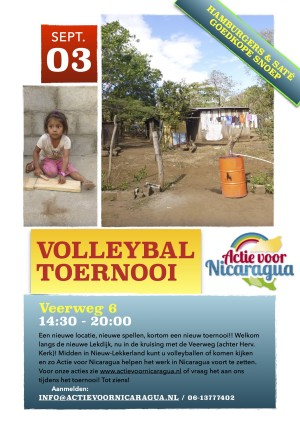 Volleybal toernooi 3 september 2016