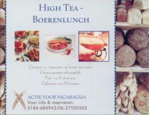 Kaart High tea - boerenlunch